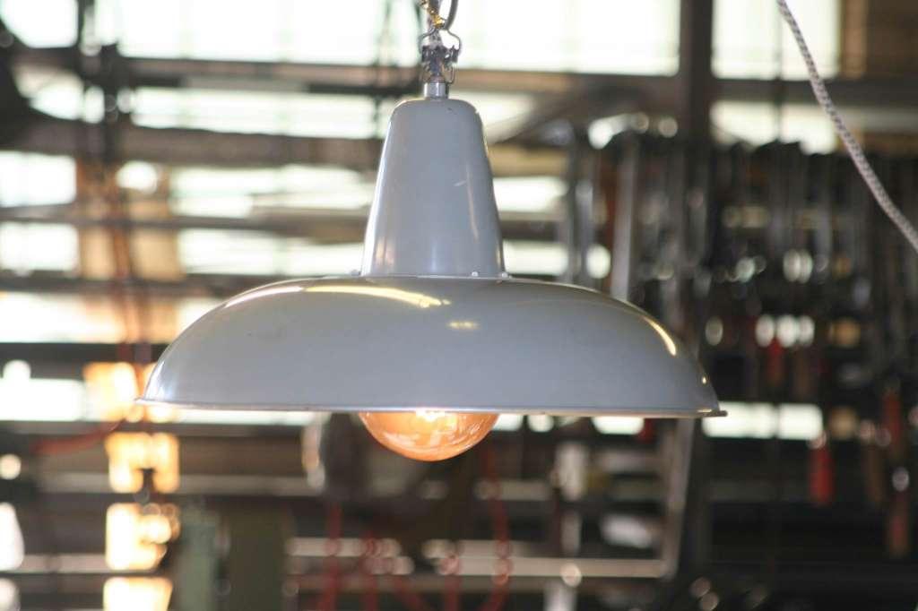 Led Lampen Industrie : Vintage industrie lampe alt aluminium mit moderner led birne