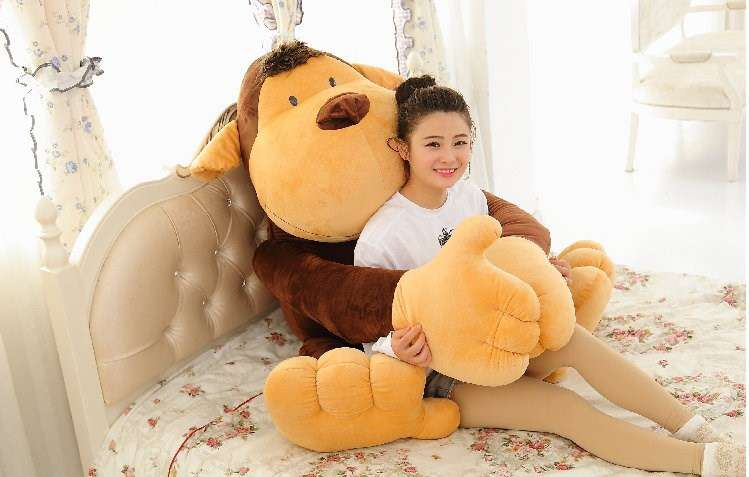 grosser affe kuschel monkey kuscheltier xxl 150cm geschenk landtiere. Black Bedroom Furniture Sets. Home Design Ideas