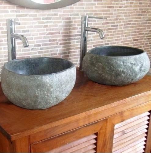 vasque galet en pierre naturelle lavabos. Black Bedroom Furniture Sets. Home Design Ideas