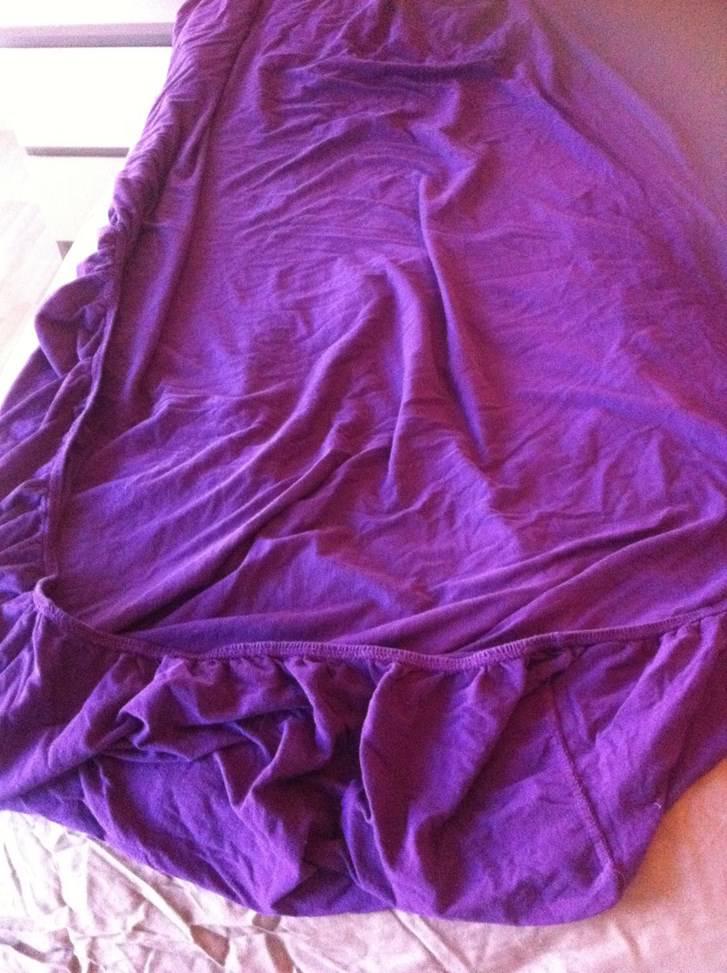 Drap housse violet linge de lit - Drap housse 140x190 violet ...