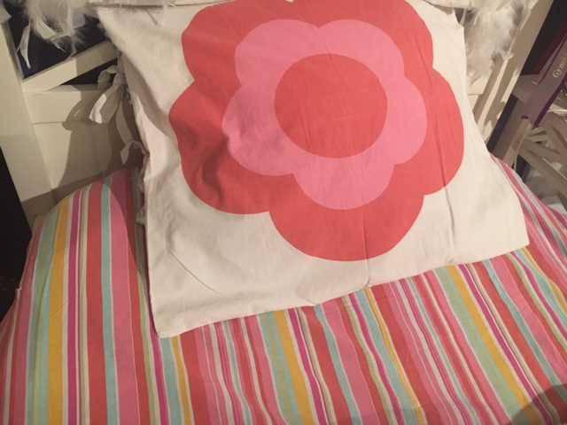 housse couette drap dessous taie oreiller lit junior fleu linge de lit pour enfants. Black Bedroom Furniture Sets. Home Design Ideas