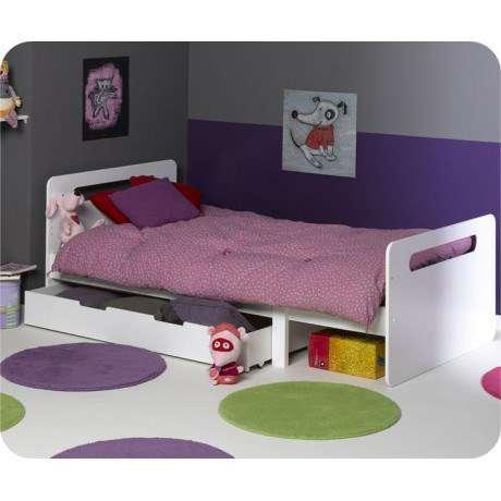 lit evolutif avec sommier 90x140 190 lits matelas. Black Bedroom Furniture Sets. Home Design Ideas