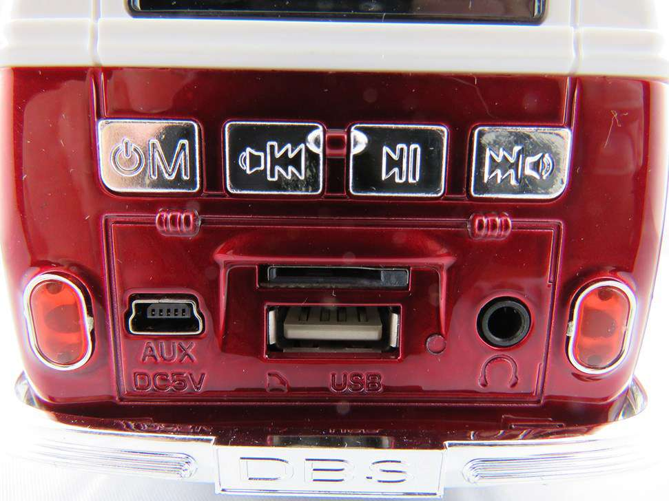 vw bus mp3 player mit fm radio farbe rot fabrikneu mp3. Black Bedroom Furniture Sets. Home Design Ideas