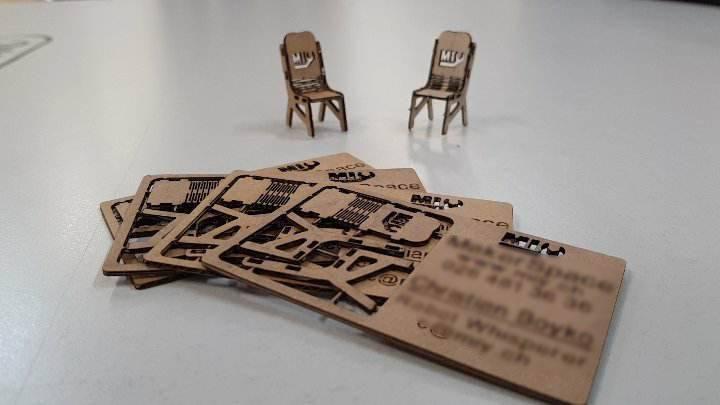 cartes de visite en carton d coupe laser marketing publicit. Black Bedroom Furniture Sets. Home Design Ideas