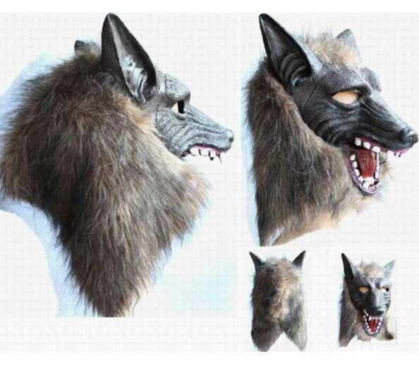 Wolf Maske Latex Fasching Karneval Halloween Tier Maske Lust