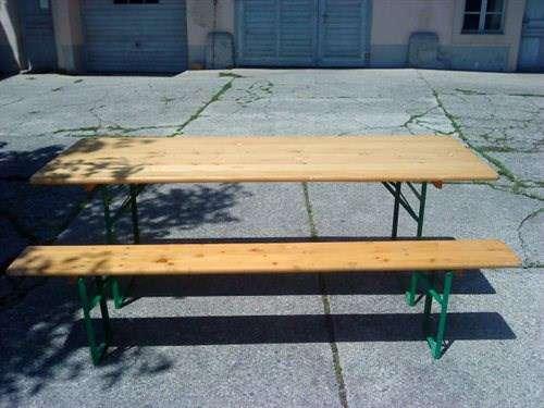 A Louer Table Et Banc Pour Petite Fête Meubles De Camping
