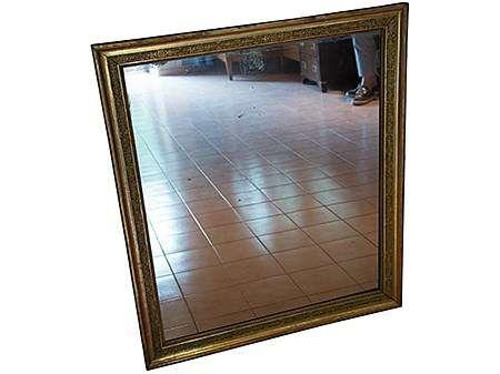 Miroir ancien au mercure cadre dor miroirs muraux for Miroir cadre dore
