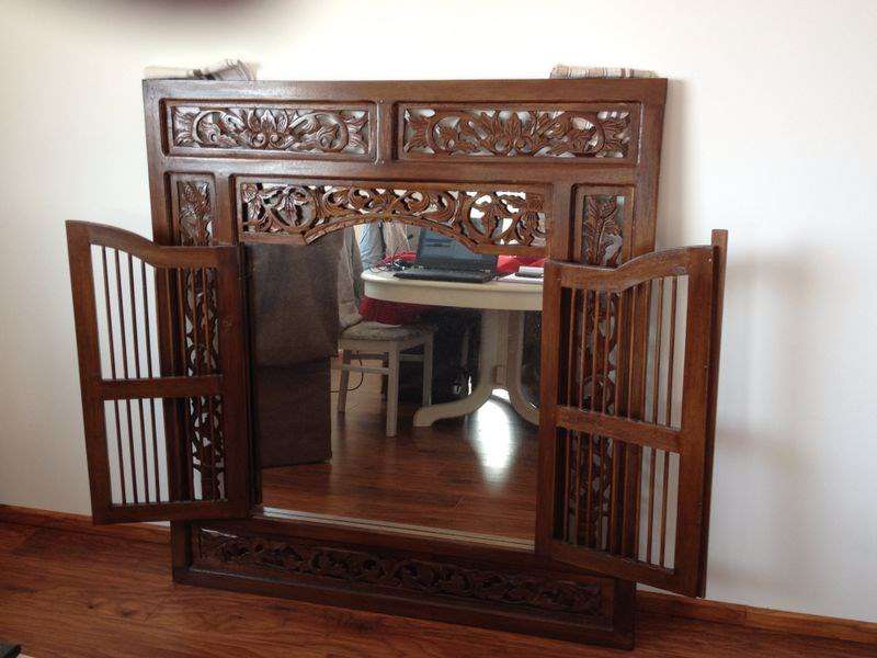 miroir fen tre d co style colonial miroirs muraux. Black Bedroom Furniture Sets. Home Design Ideas