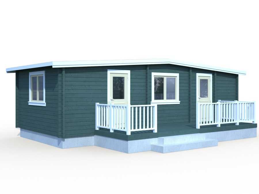 Chalet camping 70 m2 mobile homes for Casas de madera jardin baratas