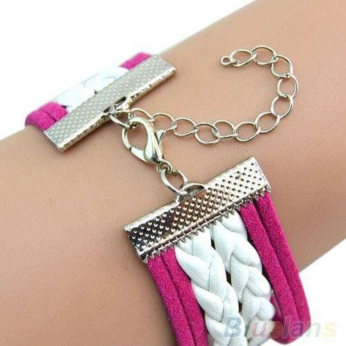 Montre Bracelet Amour Rose et blanche Love Infini Symbol - Mode ...