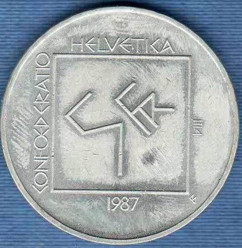 Sondermünze 5 Franken 1987 Le Corbusier Km 66 Monnaies Suisse Dès 1850