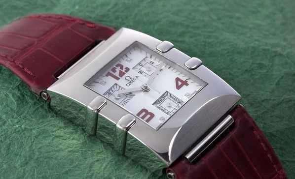 Originale Omega Lady Constellation Quadra Chrono Diamant Uhr