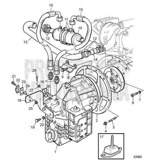 Inverseur v-drive hs63v-a Volvo Penta