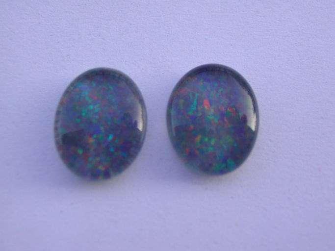 pierre pr cieuse opale bleue triplet cabochon 10 x 8 mm. Black Bedroom Furniture Sets. Home Design Ideas