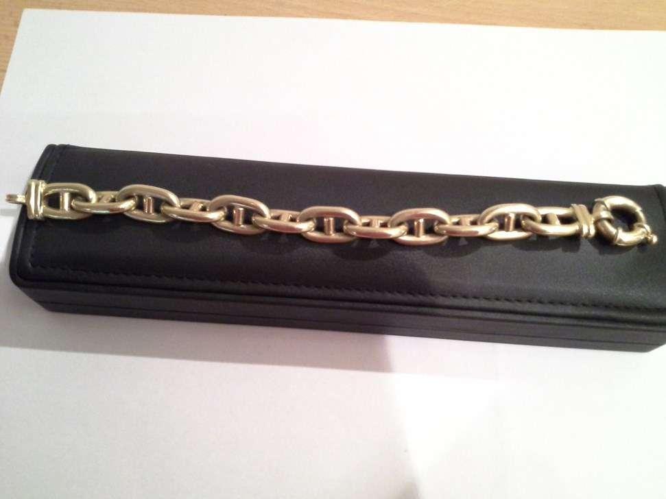 Bracelet or jaune modelé Chaîne d Ancre comme Hermès - Or jaune f017dd0fa11