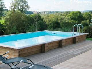 Piscine bois semi enterr e piscines accessoires for Piscine enterree en kit