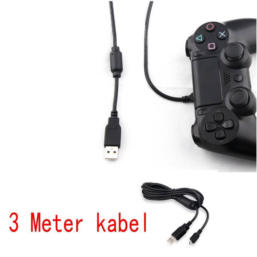 portofrei playstation ps4 controller kabel 3meter. Black Bedroom Furniture Sets. Home Design Ideas