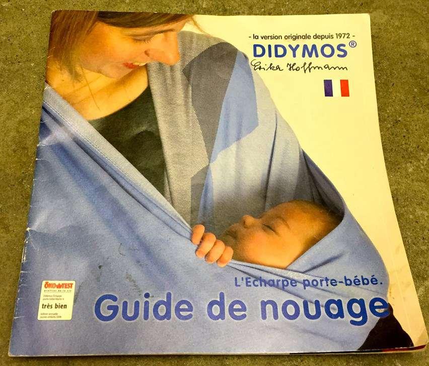 Echarpe porte-bébé Didymos bleu avec guide de nouage - Porte-bébés ... 1573c2b38a2
