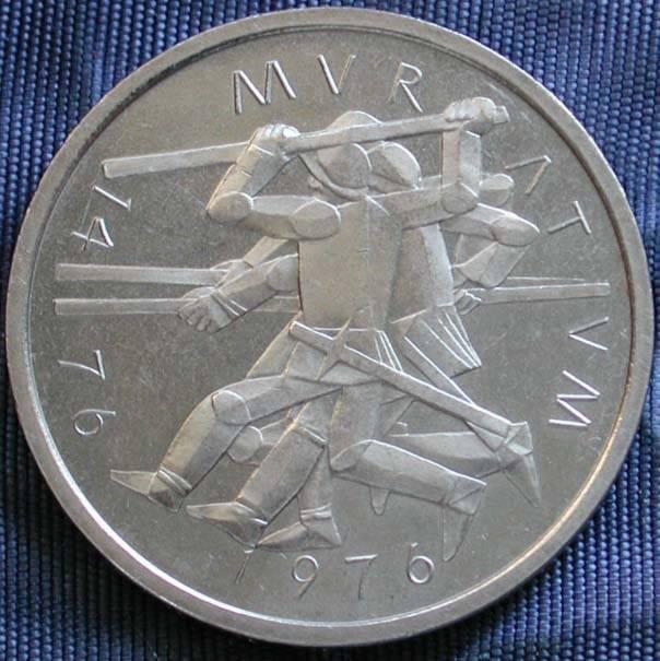 Sondermünze 5 Franken 1976 500 J Schlacht Zu Murten Schweizer