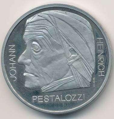 Sondermünze 5 Franken 1977 Pestalozzi Schweizer Münzen Ab 1850