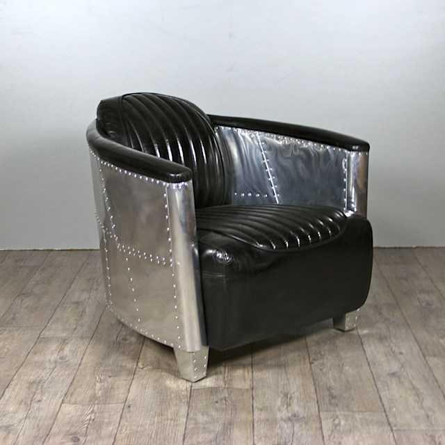 aviator sessel mermoz schwarz leder sessel liegen. Black Bedroom Furniture Sets. Home Design Ideas