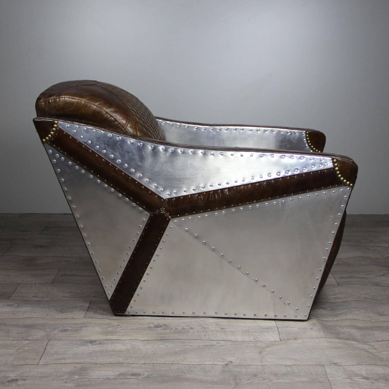 aviator sessel st exupery braun leder sessel liegen. Black Bedroom Furniture Sets. Home Design Ideas