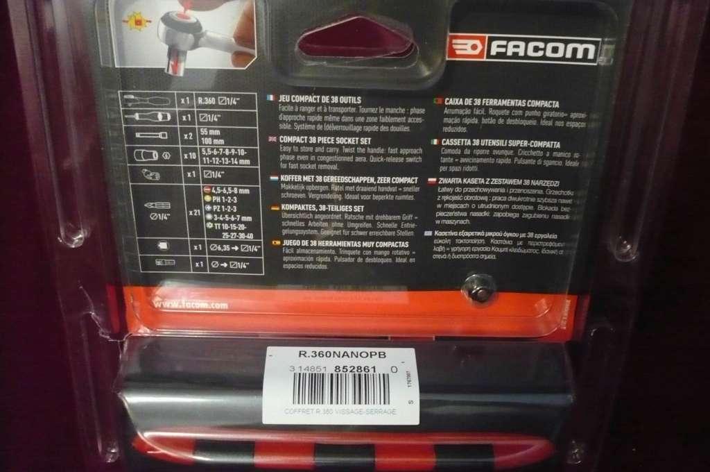 coffret cliquet facom 1 4 360 nano garantie vie199 neuf sets bo tes outils. Black Bedroom Furniture Sets. Home Design Ideas