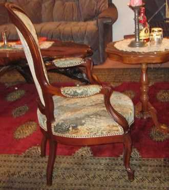 louis philippe stuhl mit 2 rollen restauriert sitz. Black Bedroom Furniture Sets. Home Design Ideas