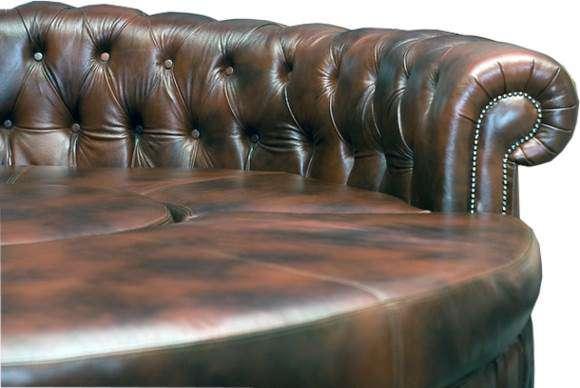 Chersterfield Rundsofa Ledersofa Runde Sofa Couch 1958 Sofas