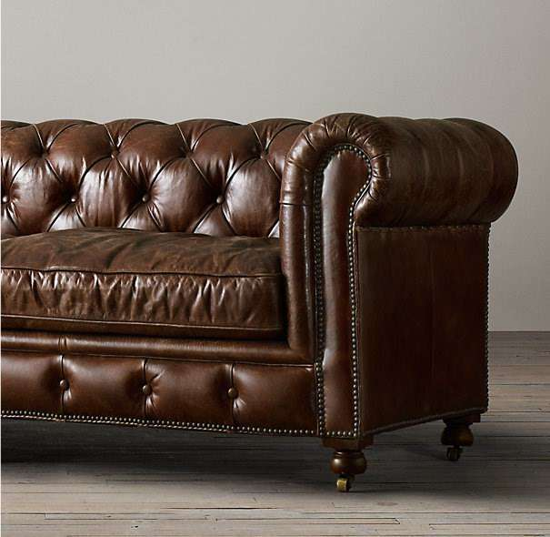 chesterfield braun ledersofa the first sofas. Black Bedroom Furniture Sets. Home Design Ideas