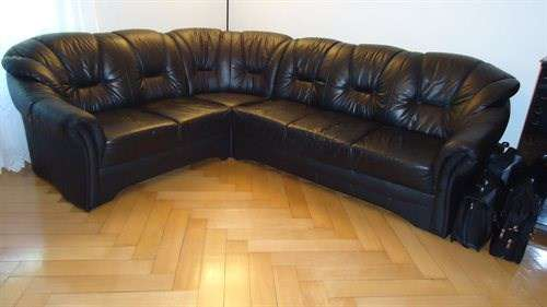 echt leder sofa schwarz. Black Bedroom Furniture Sets. Home Design Ideas