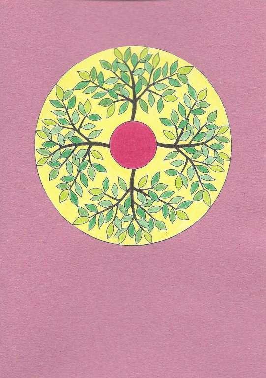 "2 mandalagrusskarten ""jahreszeitenbaum""  a 6 format"