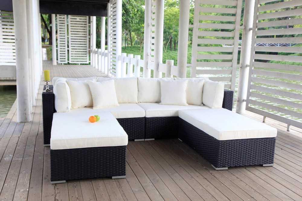 pe rattan gartenm bel garten sofa rattan lounge gartenm bel. Black Bedroom Furniture Sets. Home Design Ideas