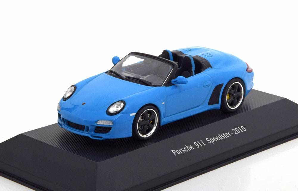neu porsche 911 997 speedster 2010 hellblau 1 43 von. Black Bedroom Furniture Sets. Home Design Ideas