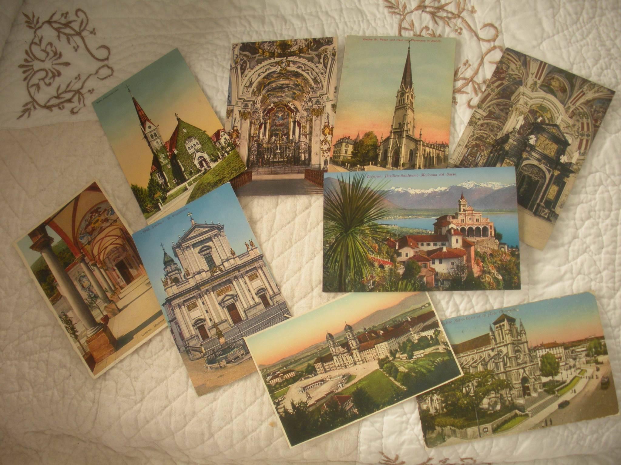 Lots de cartes postales anciennes - Suisse