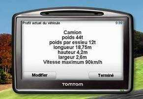 gps tomtom pour camping car et poids lourd gps tomtom syst me de navigation. Black Bedroom Furniture Sets. Home Design Ideas
