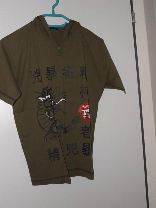 fabrikneu t 39 shirt kurzarm mit kapuze motiv oliv gr. Black Bedroom Furniture Sets. Home Design Ideas