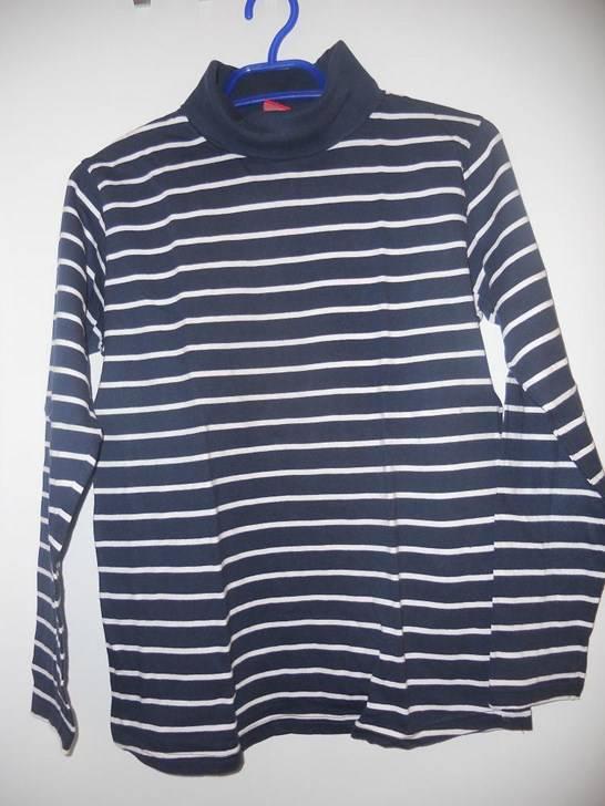 neuw rollkragen shirt langarm weiss blau gestreift gr t shirts chemises. Black Bedroom Furniture Sets. Home Design Ideas
