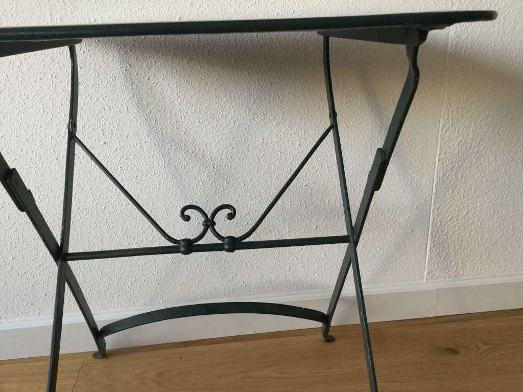 Ancienne petite table de jardin rectangulaire pliable - Table de jardin