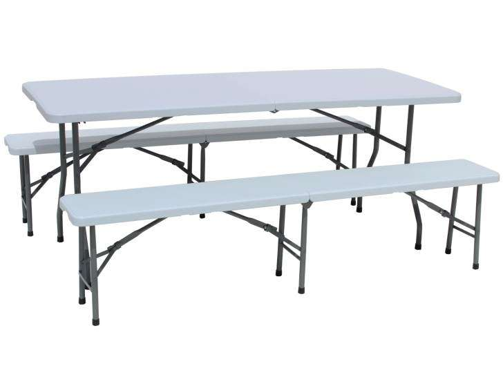 Gardeko Table Pliante Bancs Set Camping Ensemble Brasserie Table