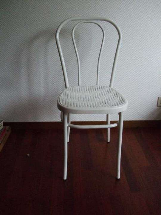 Chaise Bistrot Blanche En Mtal 17441682