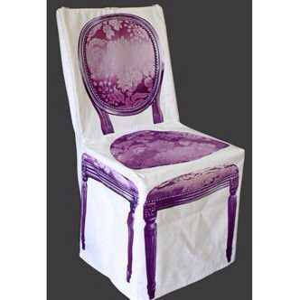 housse de chaise fiti b style baroque tissu rose violet tables chaises. Black Bedroom Furniture Sets. Home Design Ideas