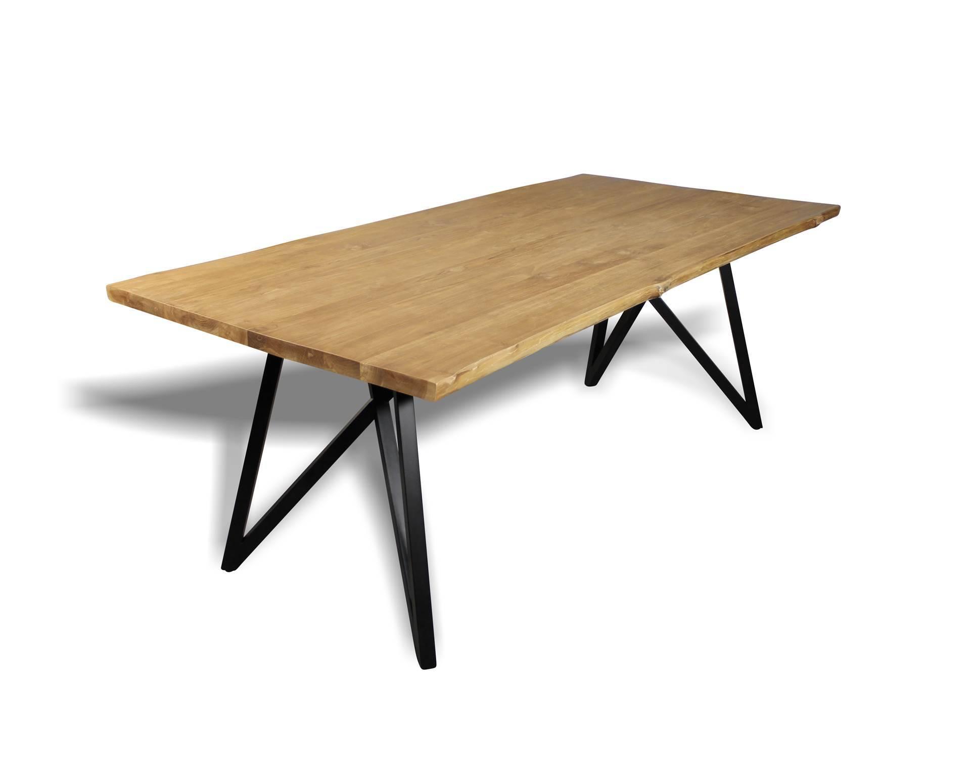 table de repas industriel 45 tables chaises. Black Bedroom Furniture Sets. Home Design Ideas