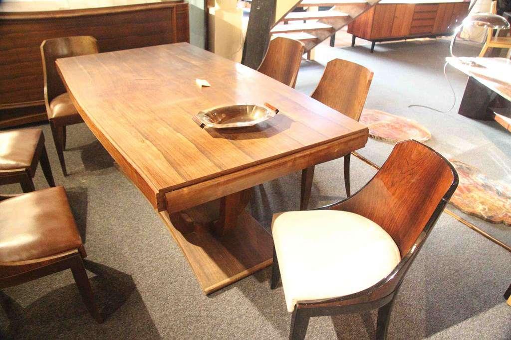 salle manger art deco en palissandre de rio n1 tables anciennes. Black Bedroom Furniture Sets. Home Design Ideas