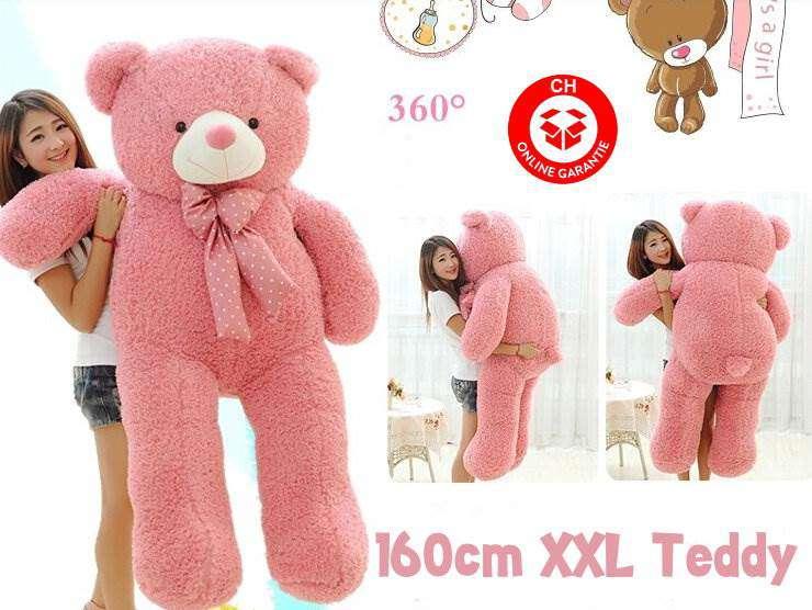 teddy teddybär plüschbär pink geschenk weihnachten xxl 160cm