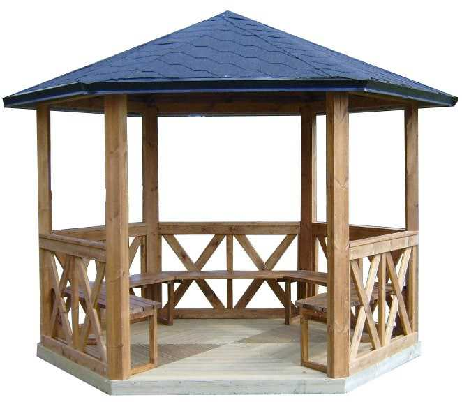 kiosque gazebo pavillon de 9 5m2 pour 15 personnes. Black Bedroom Furniture Sets. Home Design Ideas