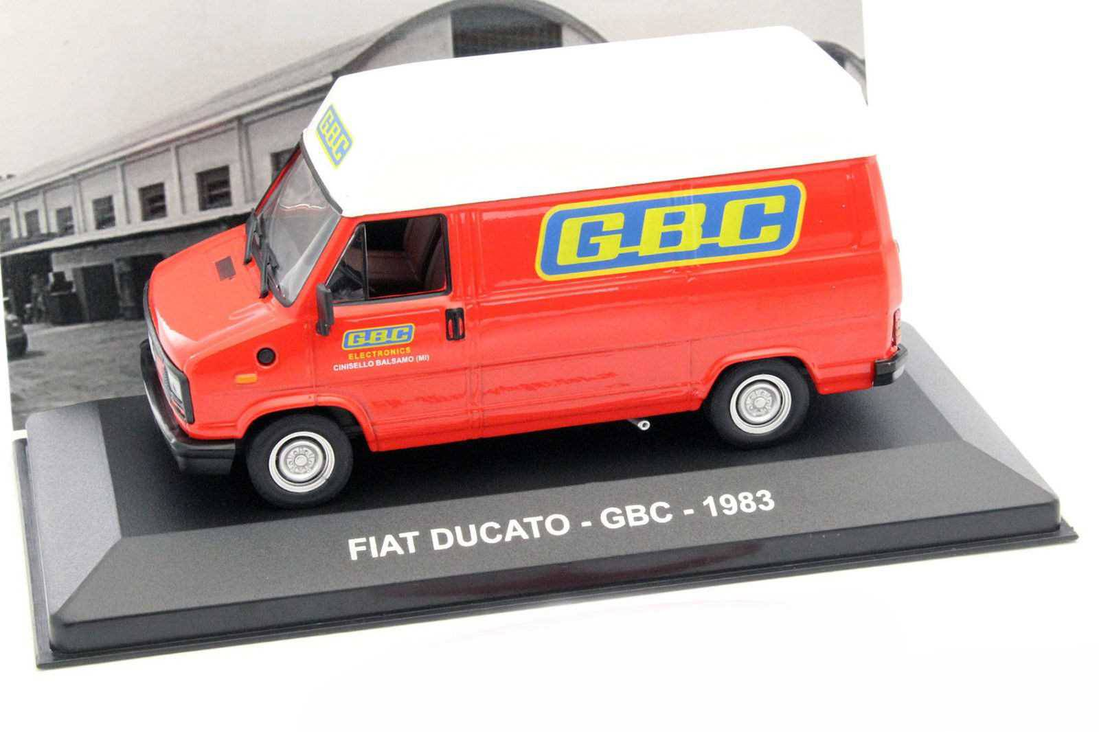 neu fiat ducato i phase i 1982 1990 kasten gbc rot. Black Bedroom Furniture Sets. Home Design Ideas