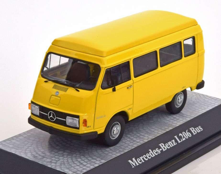 neu mercedes benz l206 bus 1970 1977 gelb 1 43 vans. Black Bedroom Furniture Sets. Home Design Ideas