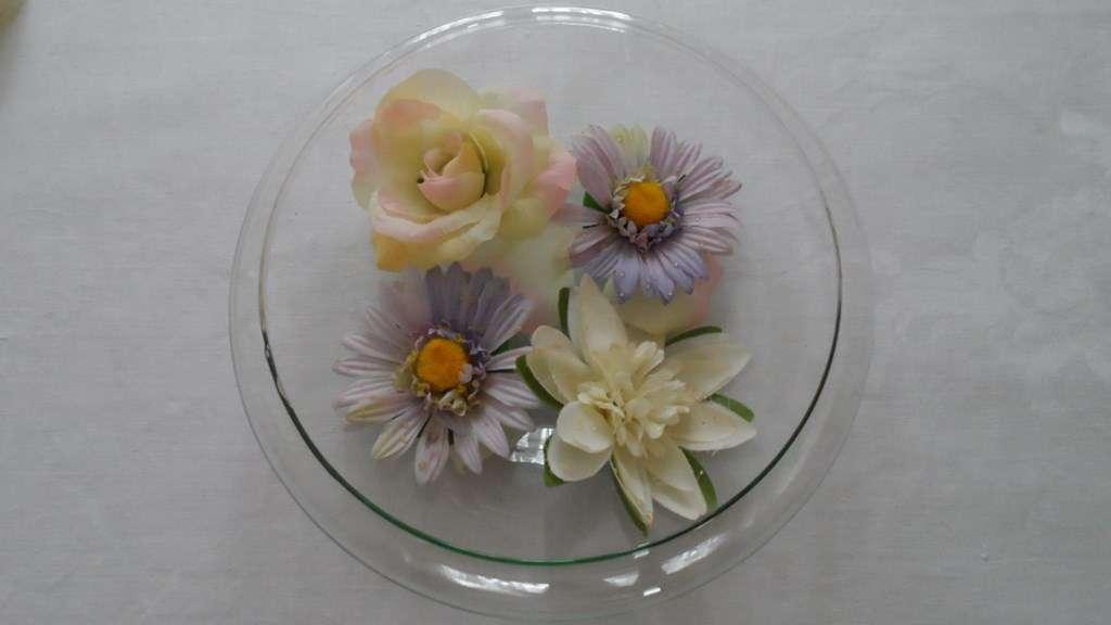 runde deko glas schale f r stoff kunstblumen wasser kerzen vasen gef sse. Black Bedroom Furniture Sets. Home Design Ideas