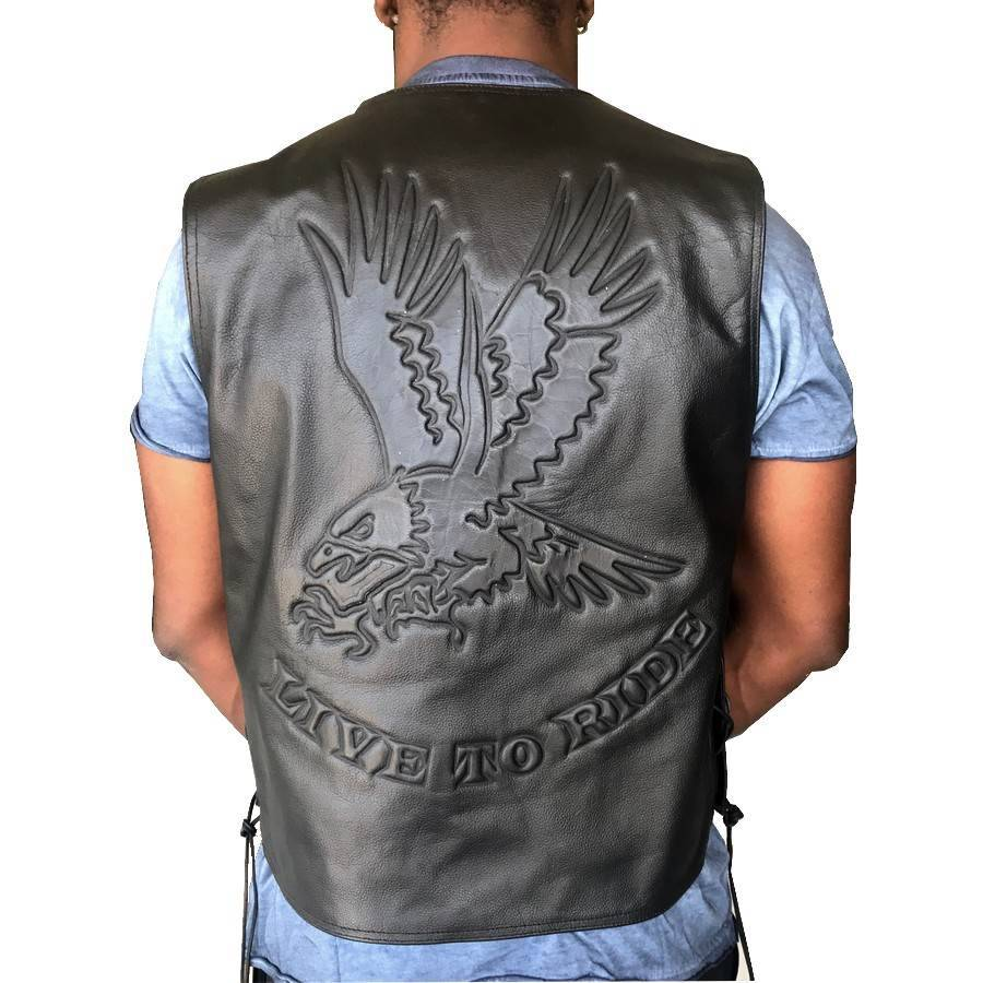 gilet biker cuir aigle moto custom harley vestes. Black Bedroom Furniture Sets. Home Design Ideas